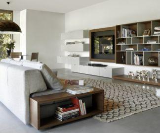 Esempi arredamento soggiorno abbinamento mobili classici for Quattro stelle arredamenti